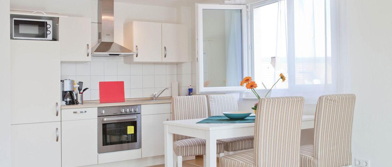 מטבח ופינת אוכל בדירת 2 חדרים