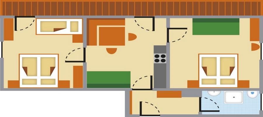 דירה 1 תרשים